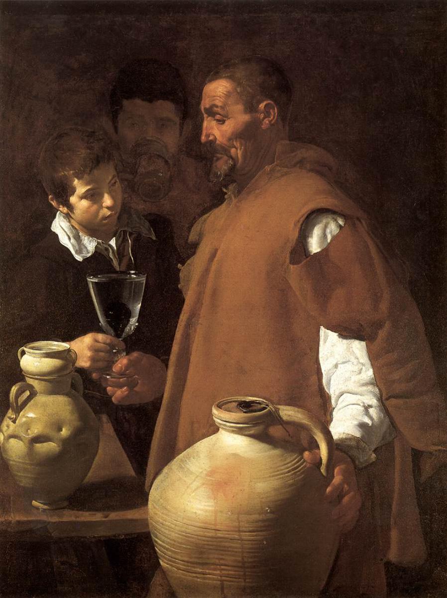 El aguador de Sevilla. Diego Velázquez. Óleo sobre lienzo, 1620
