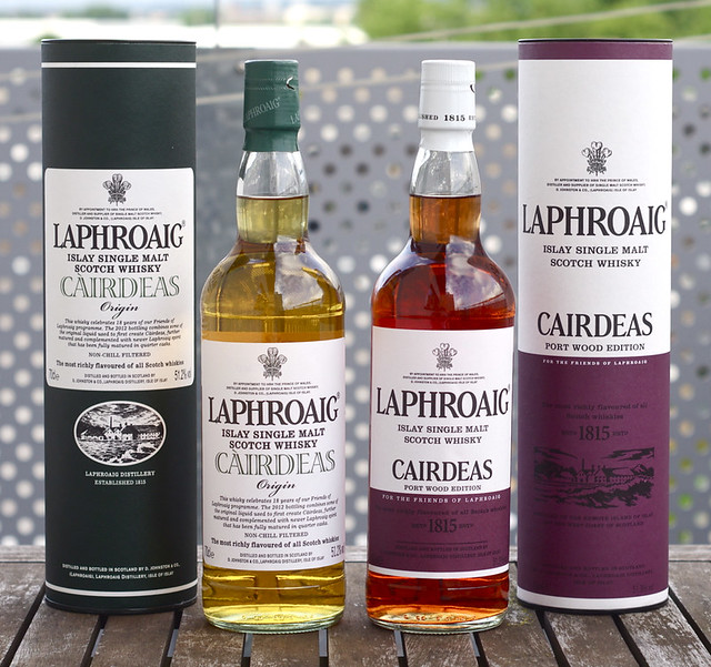 Laphroaig Cairdeas 2013 and 2012