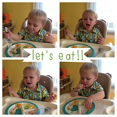 The many faces of meal time. #ABeautifulMess