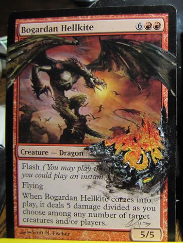 Bogardan Hellkite Altered Art Magic the Gathering art Artwork altered MTG Card art