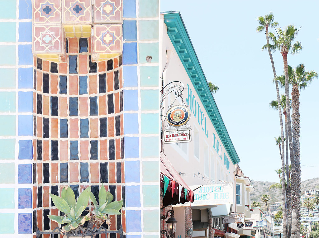 mosaics and hotel on the street