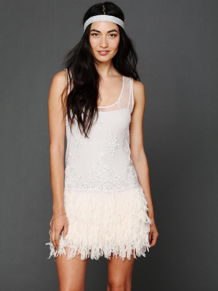 Free People Vida embellished slip dress