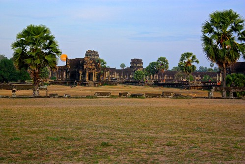 the outer wall of Angkor Wat