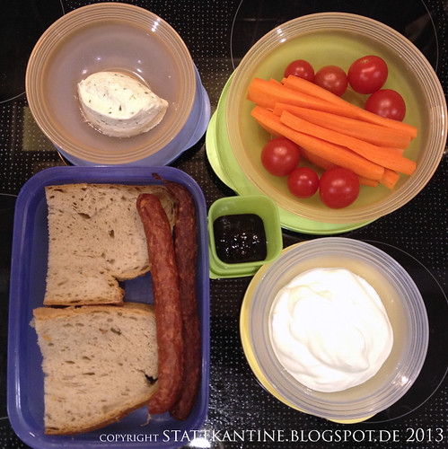 Stattkantine 1. Februar 2013 - Mettenden, Pfefferbeißer, Gemüse, griech. Joghurt