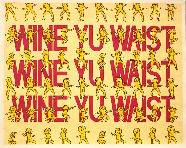 Wine Yu Waist, Acrylic & Ink on Paper, 50 cm x 40cm