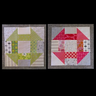 July blocks. Care group. do Good stitches. Churn dash block.