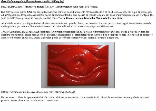 2012 - 5 Giugno Bocconi Art Gallery