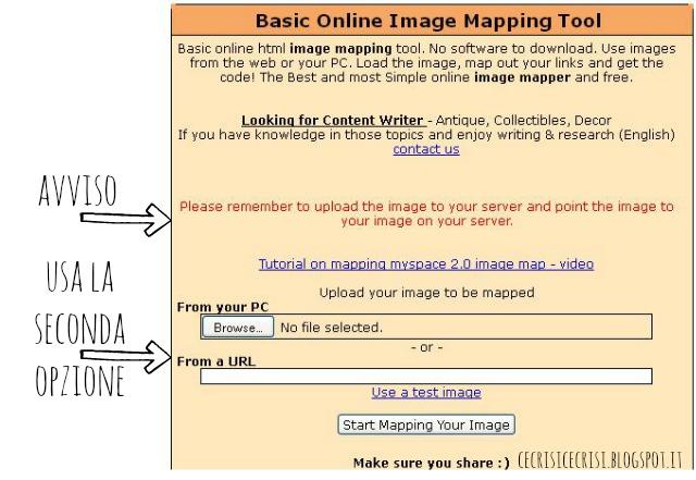 come usare image maps