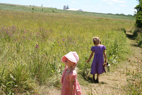 Little girls on the prairie