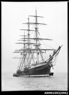 Three-masted ship JOSEPH CONRAD at anchor in Sydney Harbour