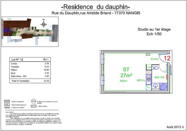 Résidence du Dauphin - Plan de vente - Lot n°12