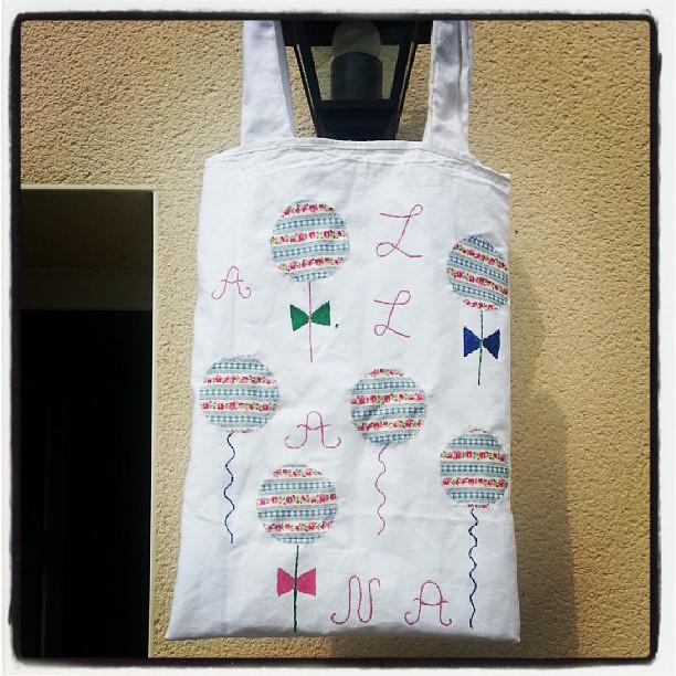 ♥ sac de bibliothèque de Nana terminer ♥ #couture #creation #blog #blogueuse #ourlittlefamily #france