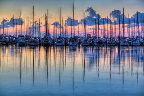 reflection sailboat sunrise stpetersburg dawn florida hdr stpetersburgpier photomatix