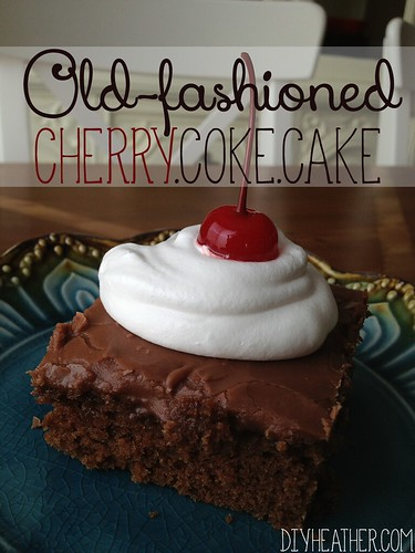 Old Fashioned Cherry Coke Cake by Heather Says