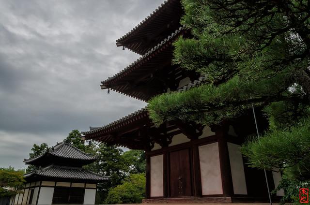 「三重塔と金堂」 法輪寺 - 奈良