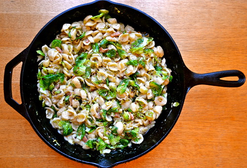 Orecchiette Carbonara w Charred Brussels Sprouts Katie