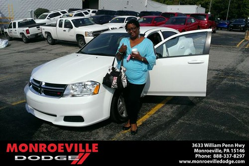 Thank you to Johnetta  Leftwich on your new 2013 new car from Eldred Obodai and everyone at Monroeville Dodge! by Monroeville Dodge