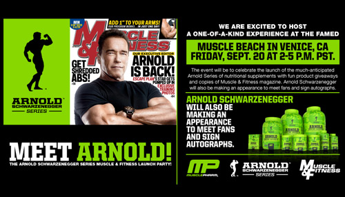 Arnold Schwarzenegger Muscle Beach