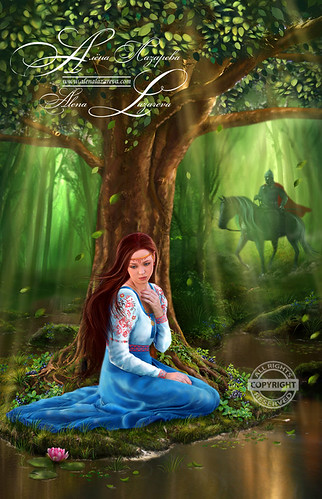 Mystery Fairytale Maiden and Prince in the Forest