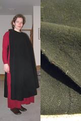 Half-circle cloak