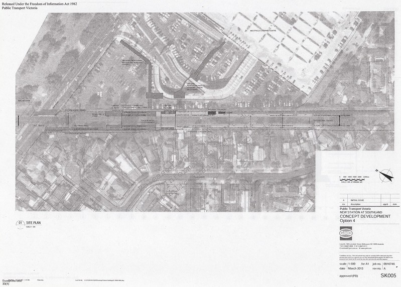 Southland station: Concept development diagram, Option 4 (March 2013)