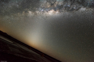 Zodiacal light, Mercury and the Galactic center from Cerro Paranal