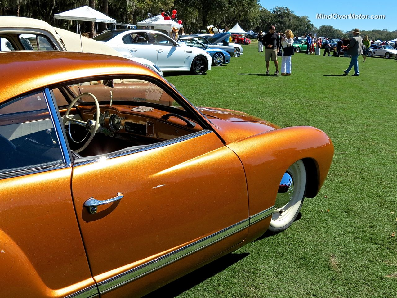 Slammed VW Ghia at Festivals of Speed Amelia Island