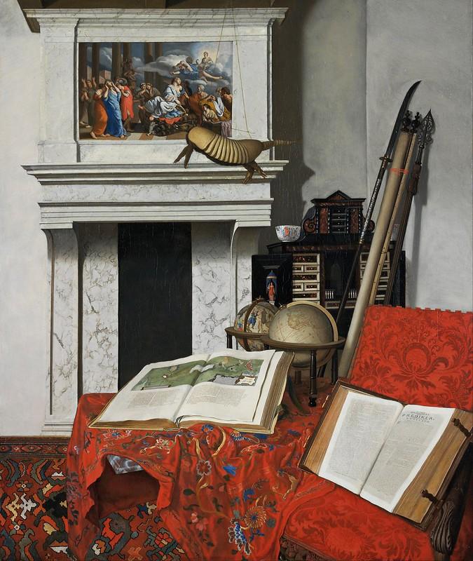 Jan van der Heyden - Room Corner with Curiosities (1712)