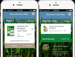 Scotts' mobile app helps users create a custom lawn care plan