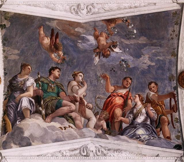 Paolo Veronese, Villa Barbaro, Maser, Hymenaios, Juno und Venus (Hymen, Juno and Venus)