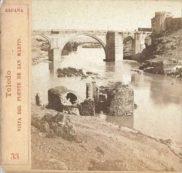 Puente de San Martín en 1863. Fotografía de Ernest Lamy