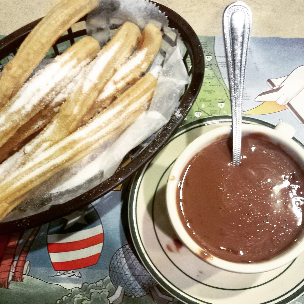 La Palma chocolate caliente con churros