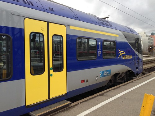 Meridian regional express at Munich main train station in Bavaria, Gemany
