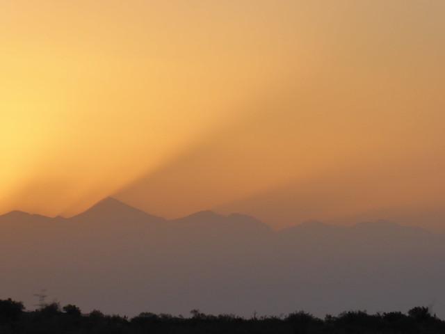 Sunset over Aconcagua, Argentina