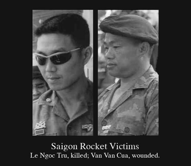 1968 Rocket Victims In Saigon Battle - Col. Le Ngoc Tru and Col. Van Van Cua