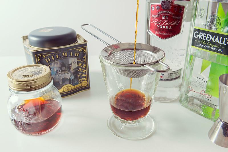 Vodka y ginebra infusionados con té Earl Grey