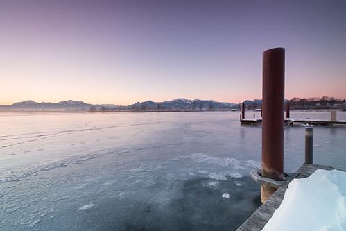 winter snow ice sunrise canon germany bayern dawn pole chiemsee 6d rimsting canonef1635f4lis