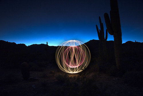Light orb in the desert (White Tank Mountains, AZ)