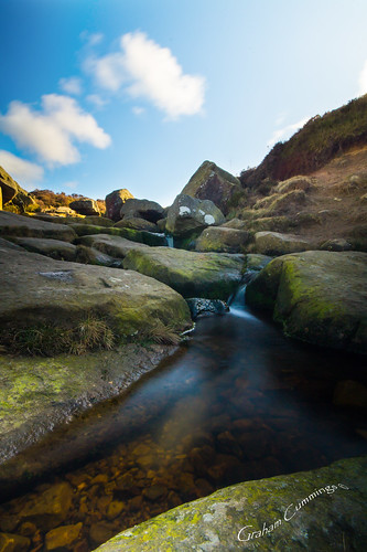 longexposure cloud water clouds waterfall rocks stream long exposure yorkshire brook moor ilkley ilkleymoor cowandcalf