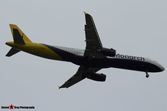 G-OZBL - 864 - Monarch Airlines - Airbus A321-231 - Luton M1 J10, Bedfordshire - 2014 - Steven Gray - IMG_0956