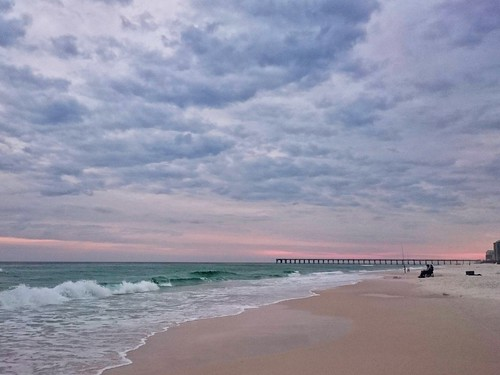 ocean sky beach gulfofmexico beautiful clouds pier sand waves florida whitesand panhandle navarre navarrebeach emeraldcoast