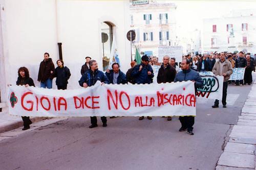 manifestazione 2003 no alla discarica