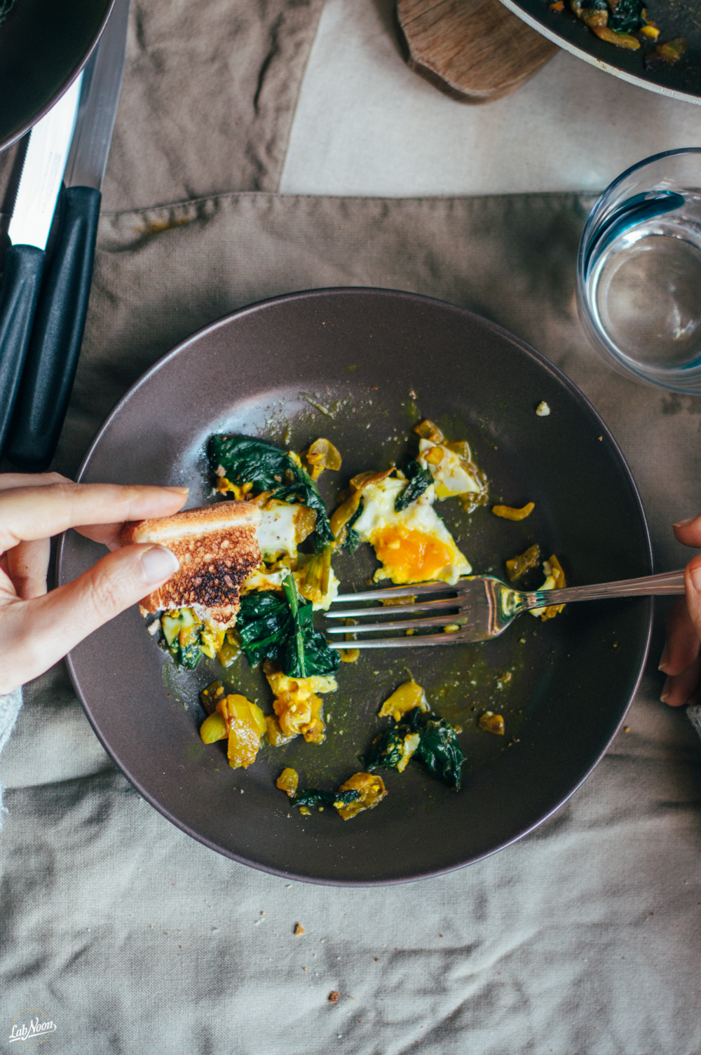Narcissus, Persian Spinach and Eggs (Nargessi) | Narciso, Uova e Spinaci alla Persiana | Lab Noon
