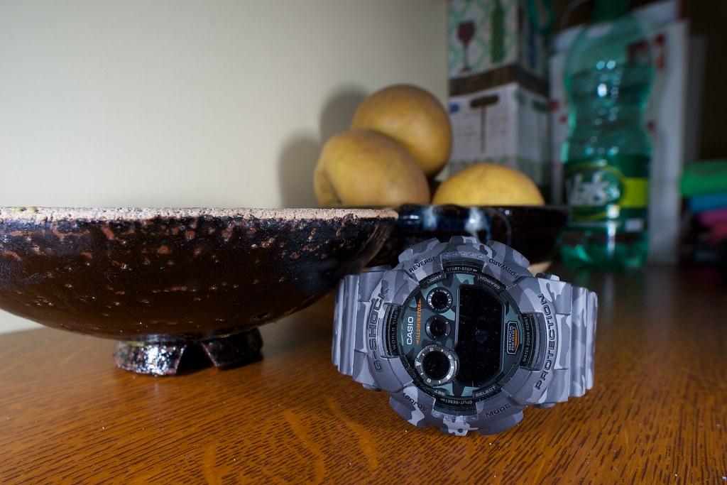 Pre-dive picture : Casio G-Shock Camouflage 16903551365_0f0e36582c_b