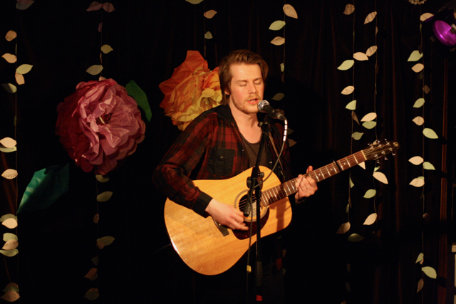Philip John performing at The Acoustic Folk Highway - The Harrison, London