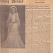 1945-11-18 Grandmother Wedding Annoucement Faquin Durham Morning Herald by r.m.b.