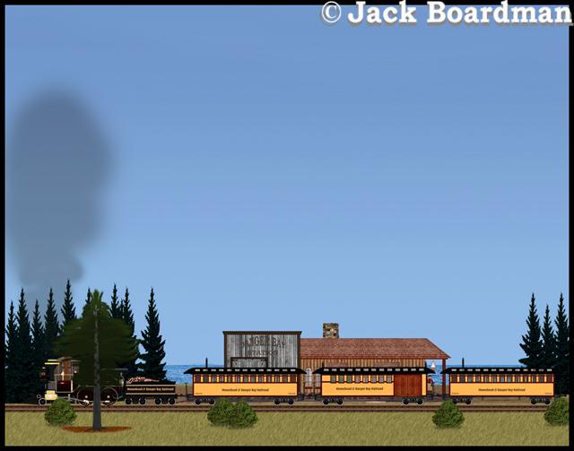 The Adventure Train awaited James Silverthorn