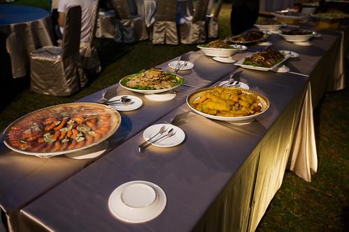 推薦婚宴場地:台南商務會館,米老鼠米奇的特殊結婚婚禮風格自助餐點區9
