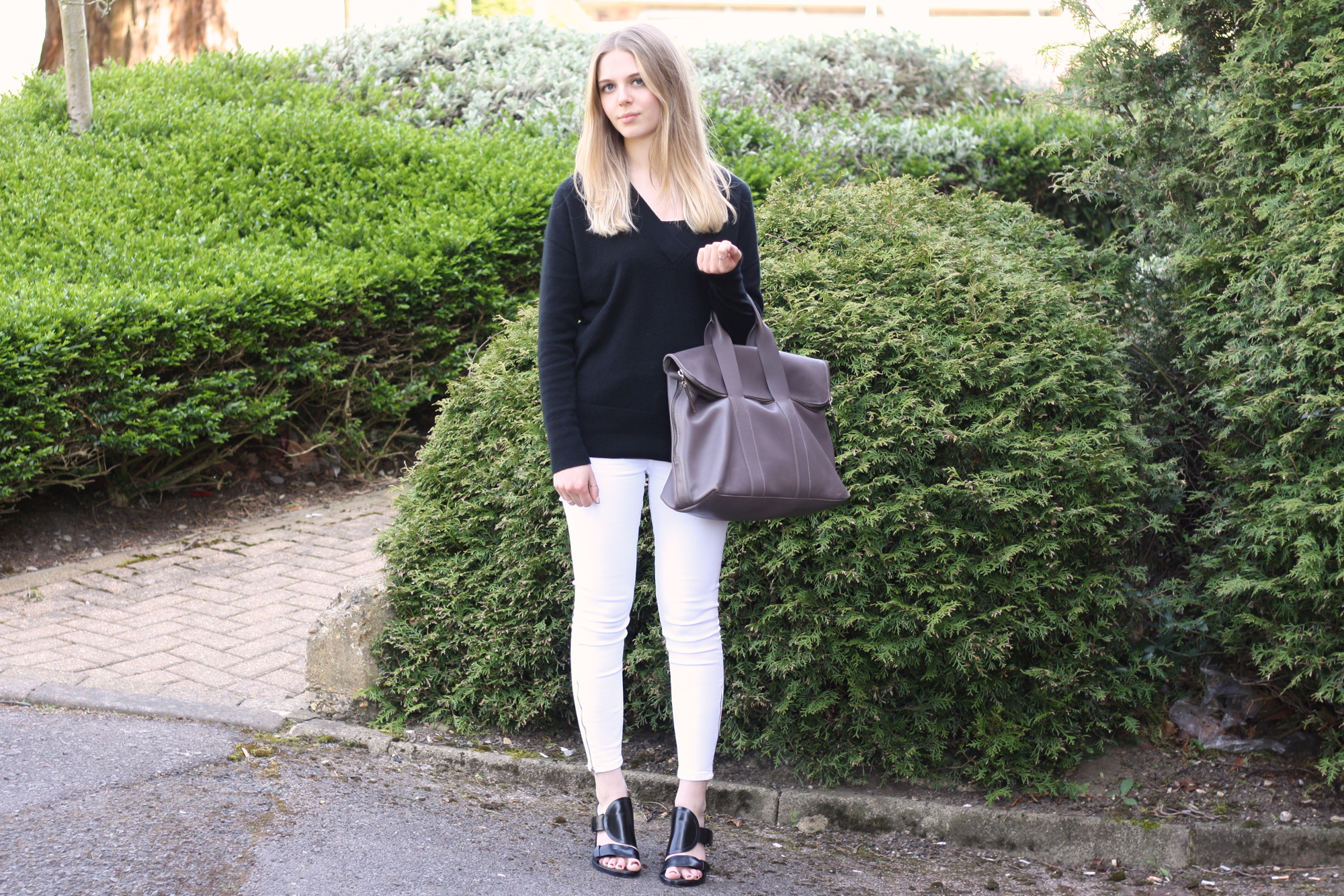 Topshop white Jamie jeans