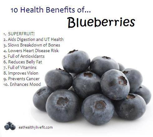 22. Blueberries